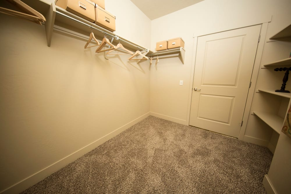 Ample closet space available at 644 City Station in Salt Lake City, Utah