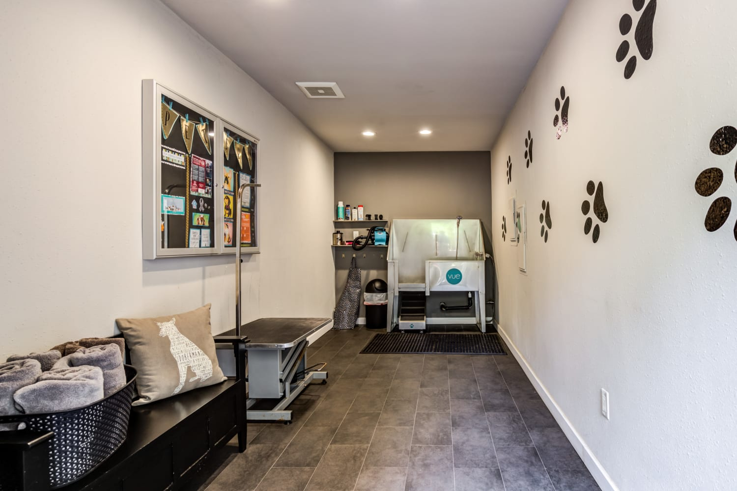 Pet spa at Vue Kirkland Apartments in Kirkland, Washington