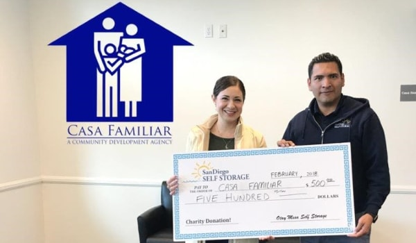 Learn more about Otay Mesa Self Storage's charitable contributions in San Diego, California