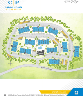 Printable site map image at Chenal Pointe at the Divide in Little Rock, Arkansas
