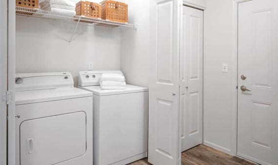 washer and dryer in apartment at Sofi at Cedar Mill