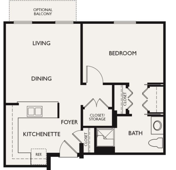 Plan B floor plans at The Inn at Greenwood Village in Greenwood Village, Colorado