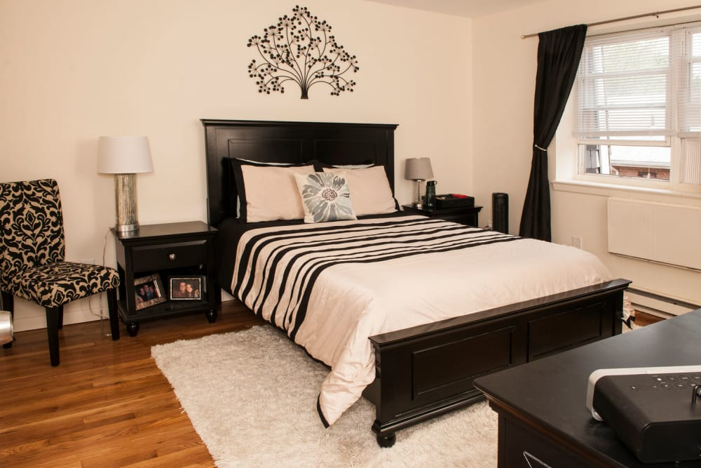 Bedroom model at Prospect Ridge Apartments in Hackensack, New Jersey