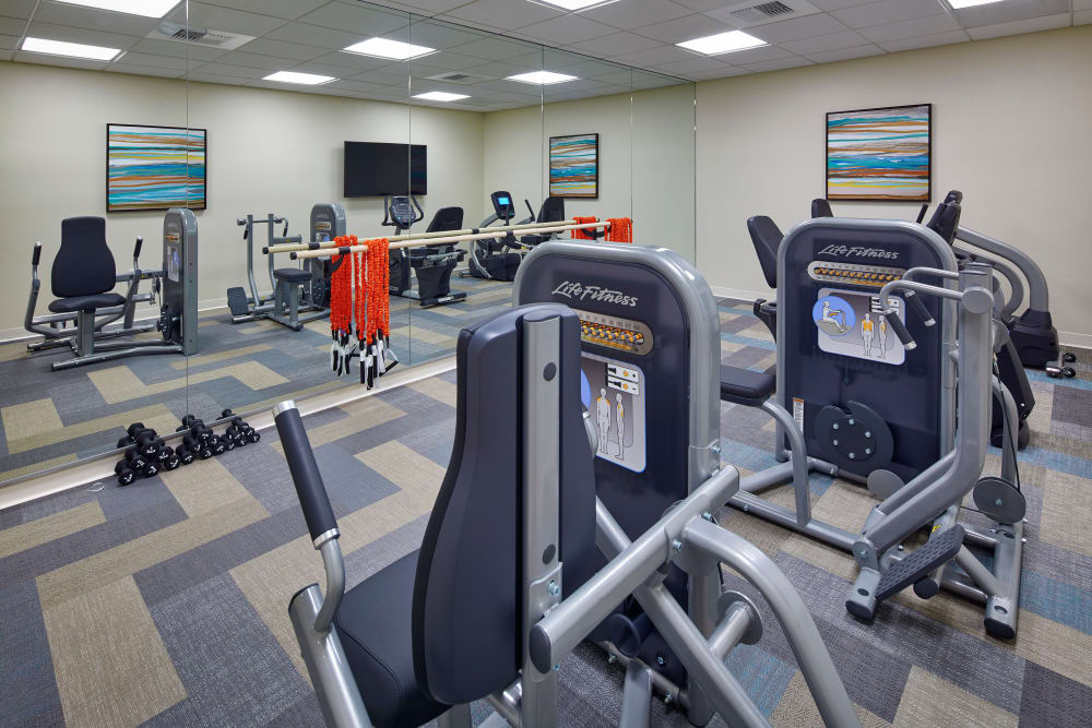 State-of-the-art fitness center at Regency Palms Palmdale in Palmdale, California