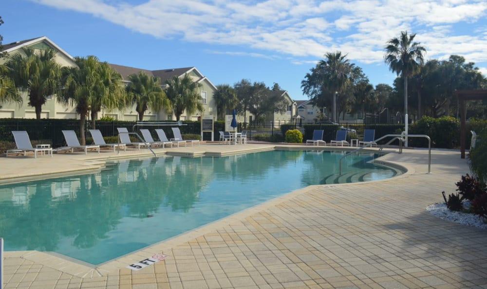 resort style pool at Springs at Palma Sola in Bradenton, FL