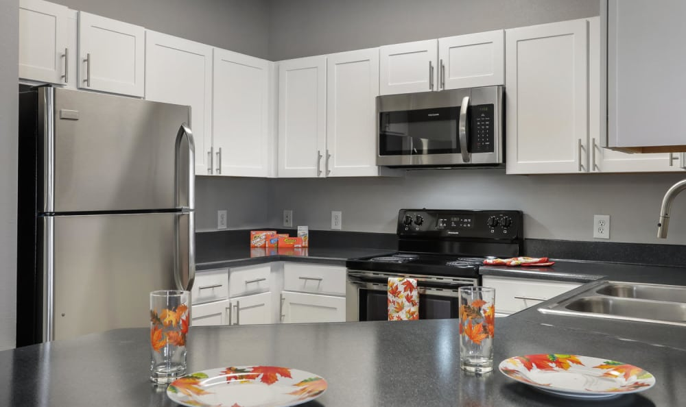 Kitchen at Hawthorne Hill Apartments in Northglenn