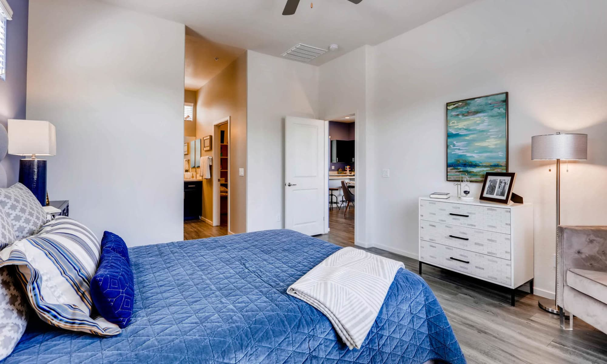 Master bedroom at Avilla Meadows in Surprise, Arizona