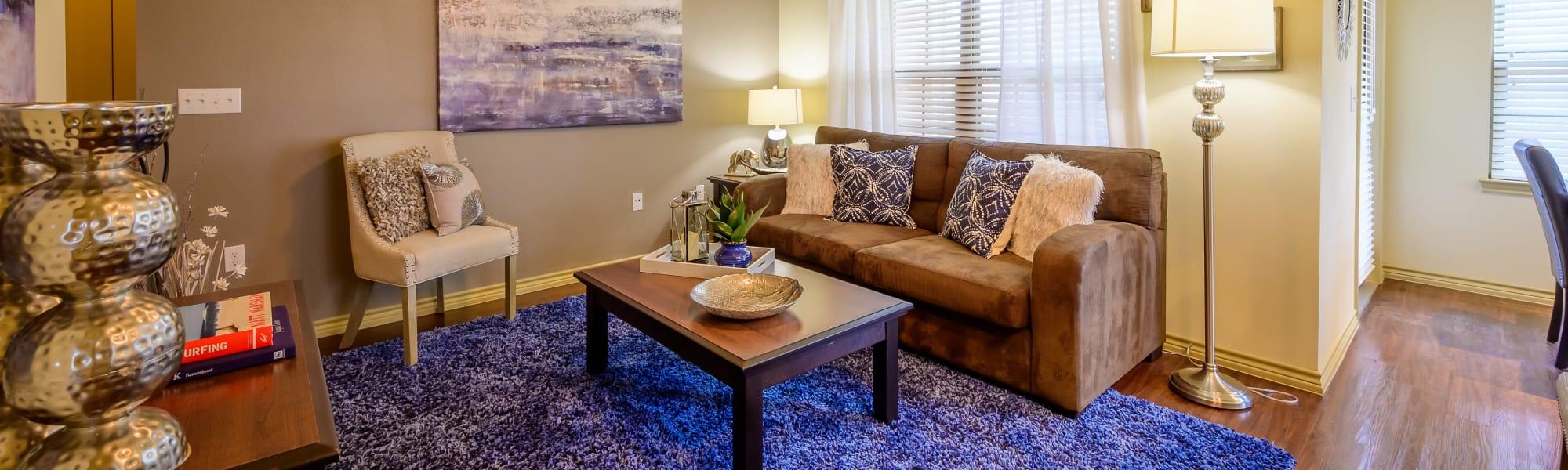 Floor plans at Pecan Springs Apartments in San Antonio, Texas