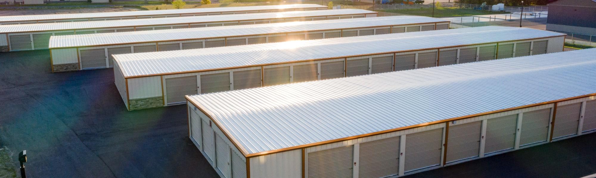Aerial view of outdoor units at KO Storage in Minnetonka, Minnesota