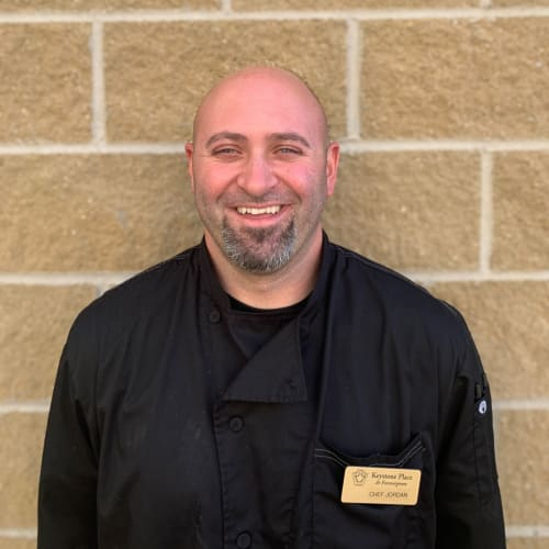 Jordan Roberts, Culinary Director at Keystone Place at Forevergreen in North Liberty, Iowa