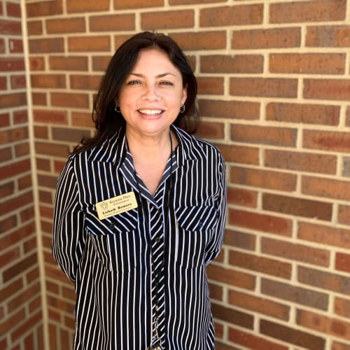 Lizbeth Romero, concierge at Keystone Place at Forevergreen in North Liberty, Iowa.