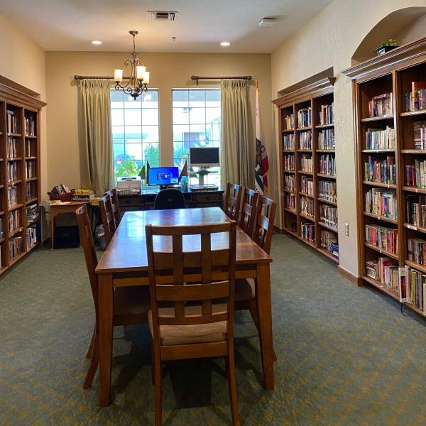 Library at Pacifica Senior Living Fresno in Fresno, California.