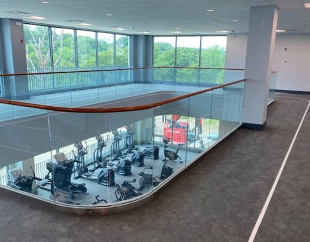 View into fitness center at Monarch at Ridge Hill in Yonkers, New York