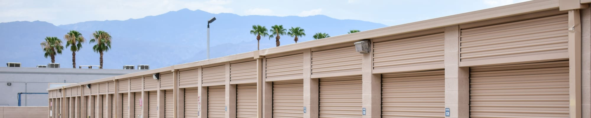 Climate-controlled storage at STOR-N-LOCK Self Storage in Palm Desert, California