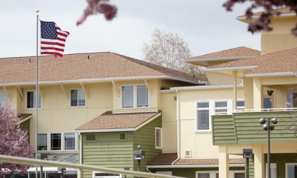 Our senior living community front entrance in Klamath Falls, Oregon