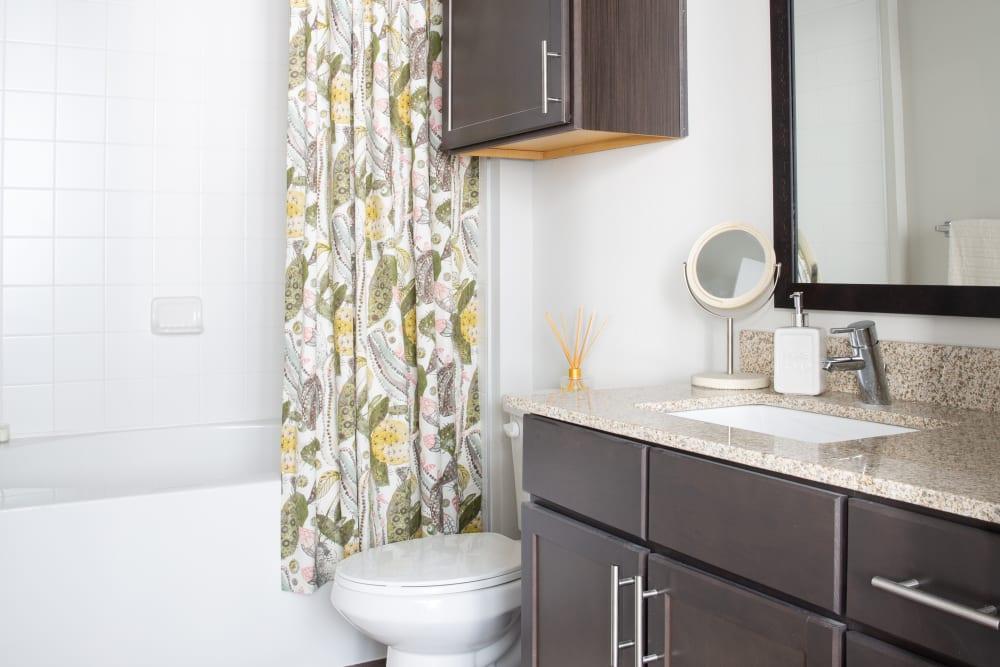 Model bathroom at Flora in Austin, Texas