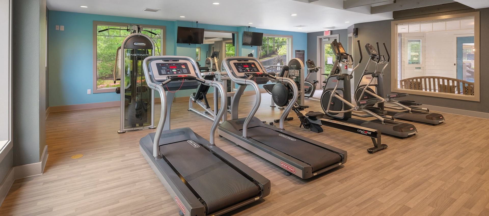 Well Equipped Fitness Center at Waterhouse Place in Beaverton, OR
