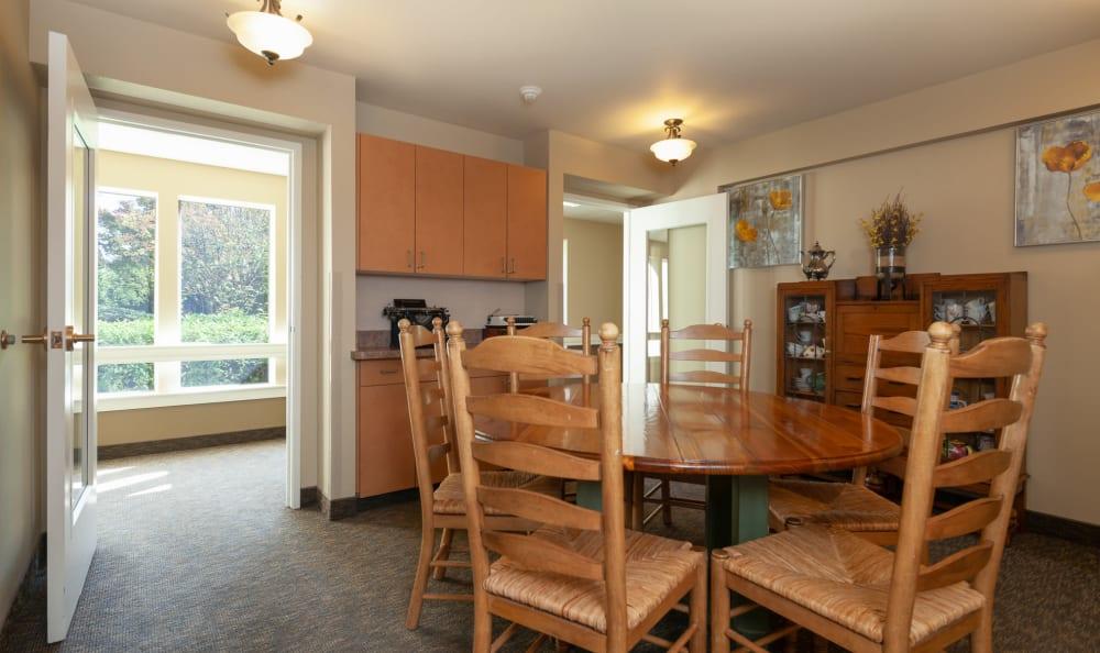 Room at senior living facility in Portland, Oregon