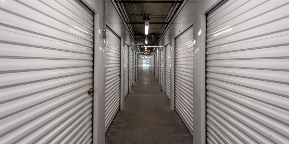 Indoor climate controlled units at StorQuest Self Storage in Gainesville, Florida