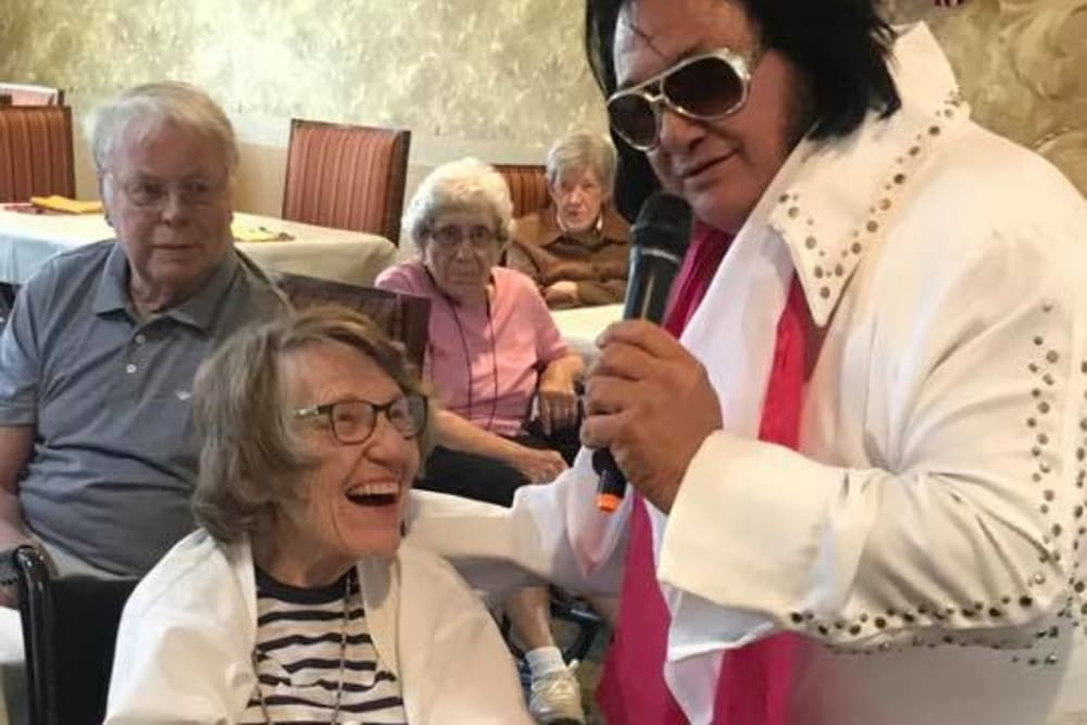 A visit from Elvis at Landings of Sidney in Sidney, Ohio