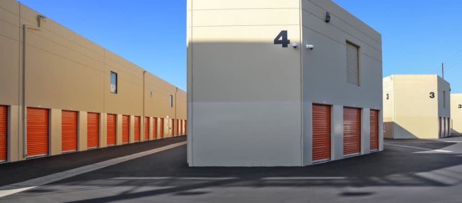 Storage units at A-1 Self Storage in Fountain Valley, California