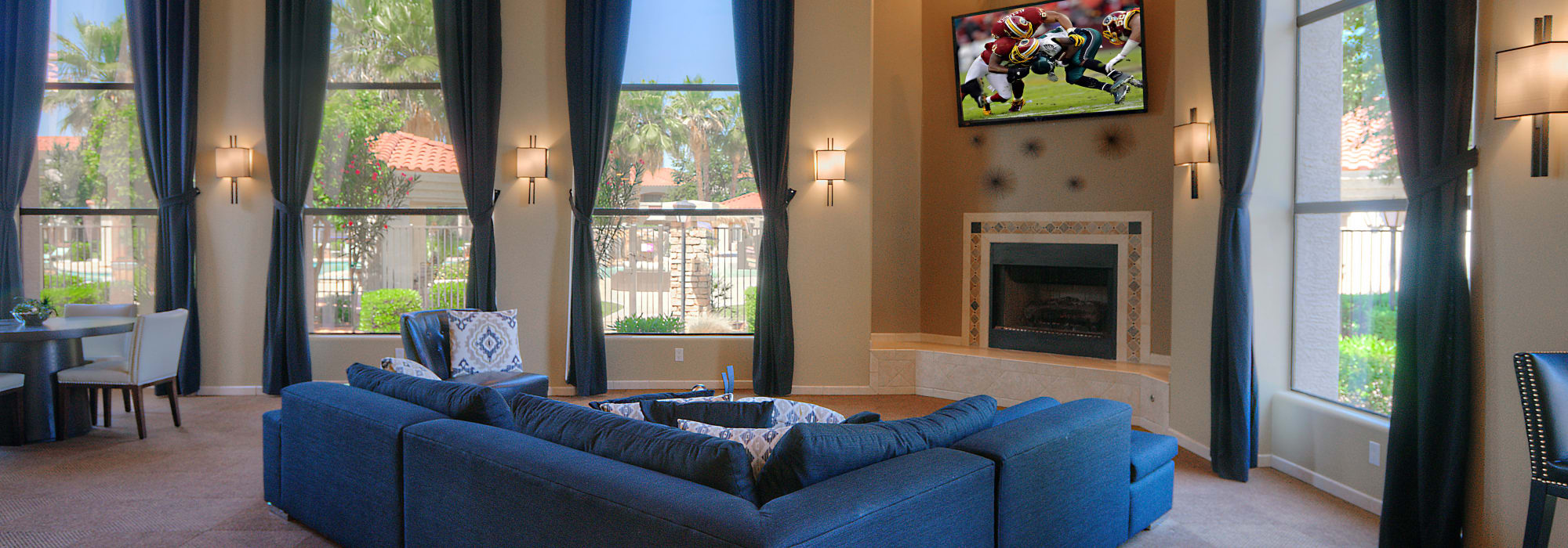 Spacious clubhouse to entertain friends and family at San Cervantes in Chandler, Arizona