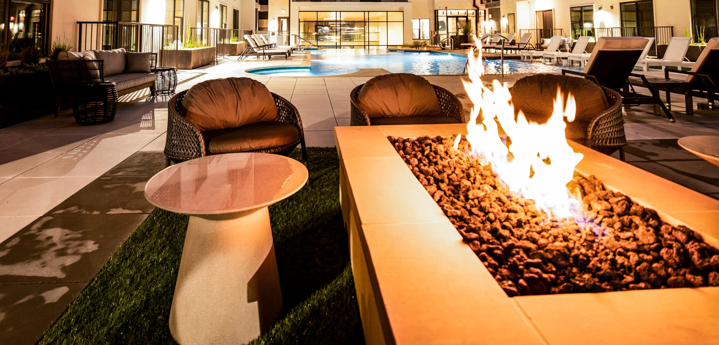 Firepit at The Clark in Austin, Texas