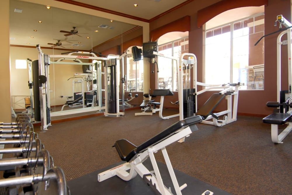 Onsite fitness center at Remington Ranch in Litchfield Park, Arizona