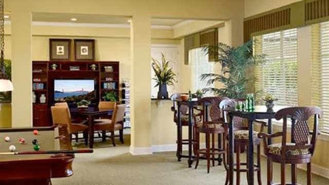Clubhouse living room at Integra Landings in Orange City, FL