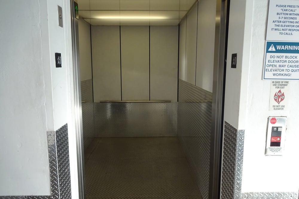 Elevator Accessible Storage Units at Storage Etc... Woodland Hills
