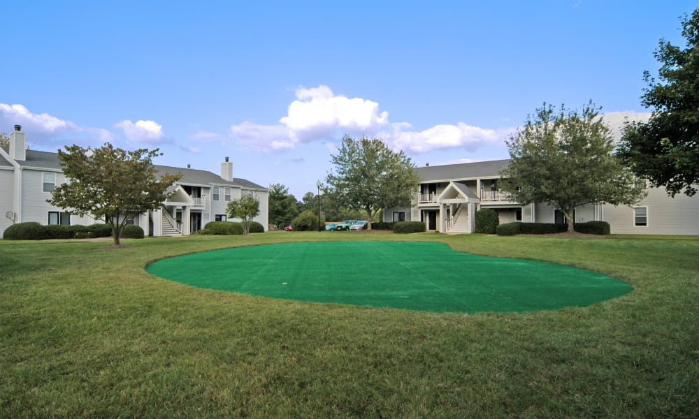 Golf practice greens in Easton, Maryland
