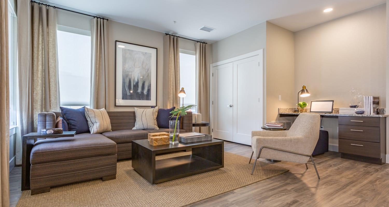 Modern living room at FalconView in Colorado Springs, Colorado