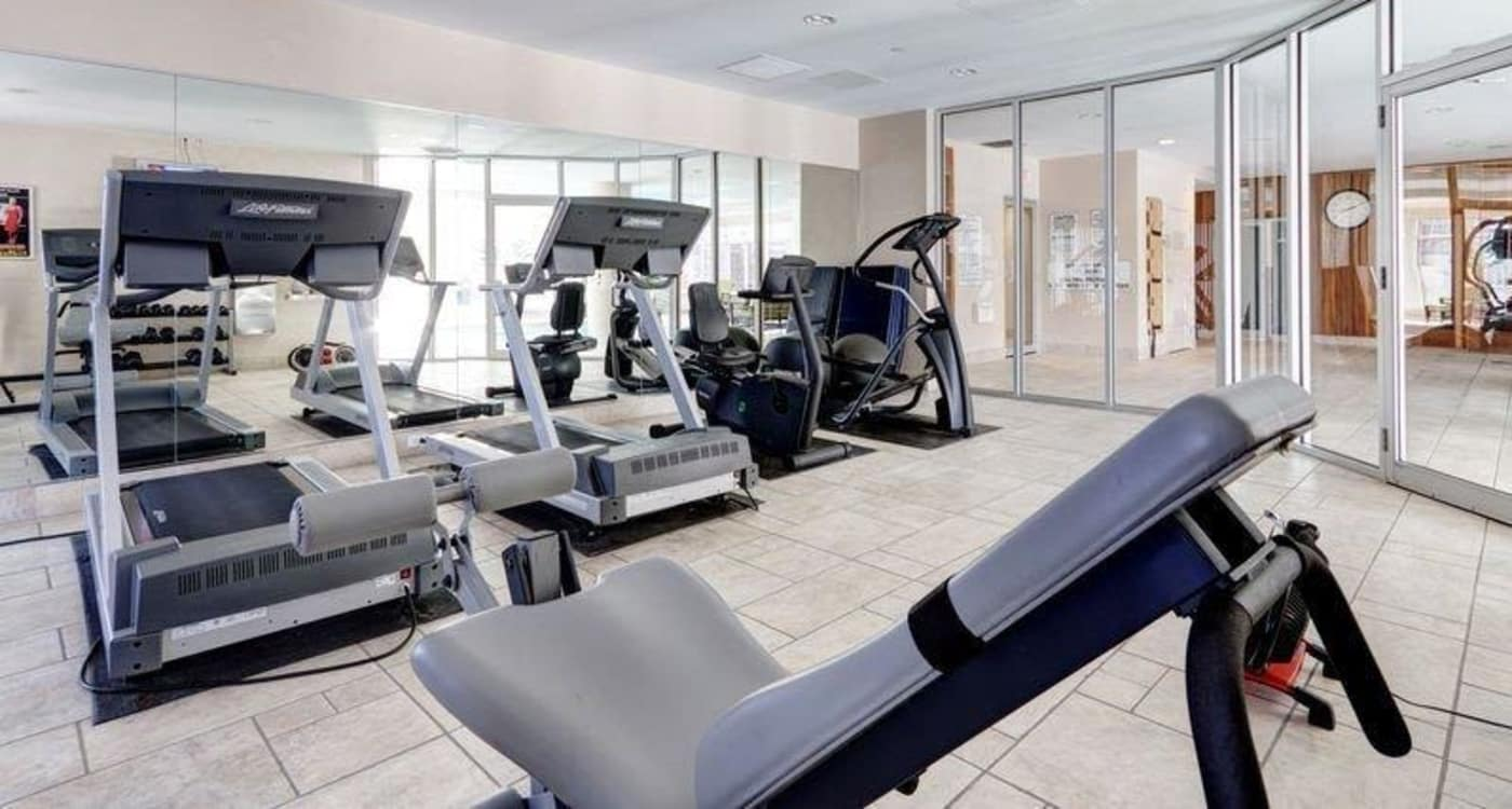 Modern fitness center at 50 Laurier in Ottawa, Ontario