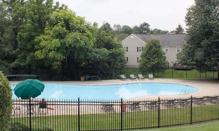 Sparkling swimming pool at The Encore at Laurel Ridge