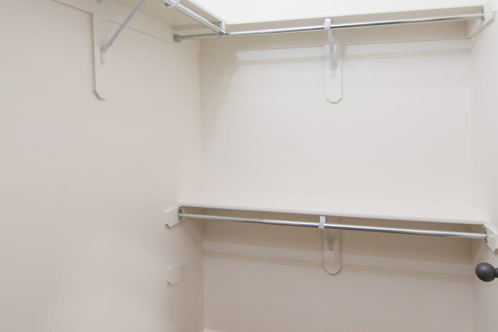 Walk-in closet at Ridgeview Apartments