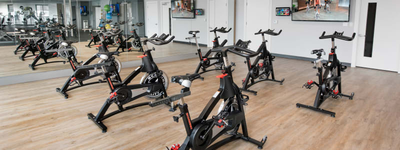 Spin bikes at The Flats in Doral, Florida