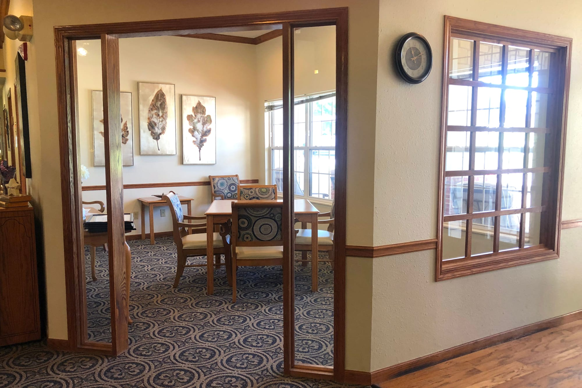 Private dining at Ashbrook Village in Duncan, Oklahoma.