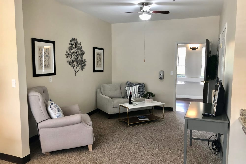 Studio deluxe living room at Parsons House Cypress in Cypress, Texas