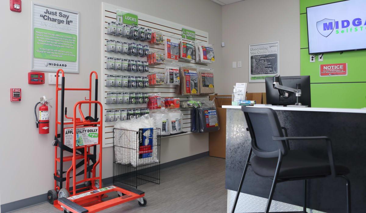 Packing supplies at Midgard Self Storage in Bradenton, FL