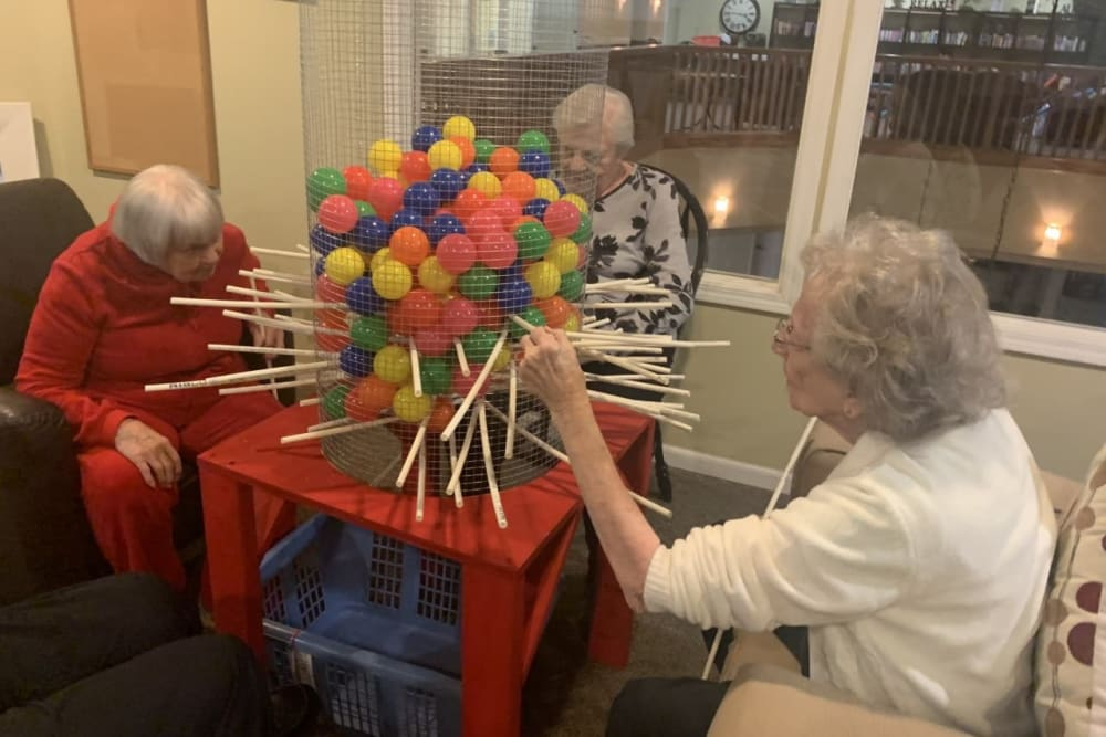 Residents playing a fun game at The Wellington in Minot, North Dakota