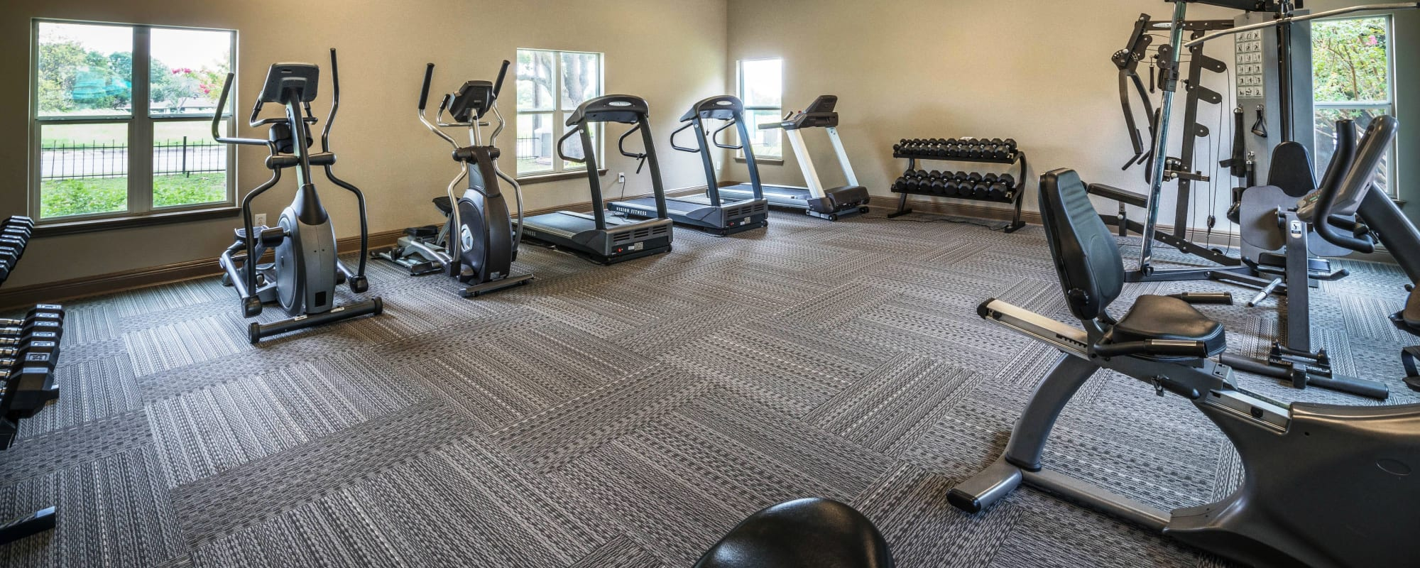 Fitness center at Sedona Canyon in San Antonio, Texas