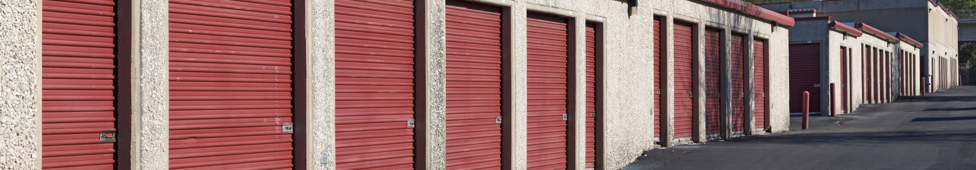 Self storage units at Self Storage Plus in Alexandria, Virginia