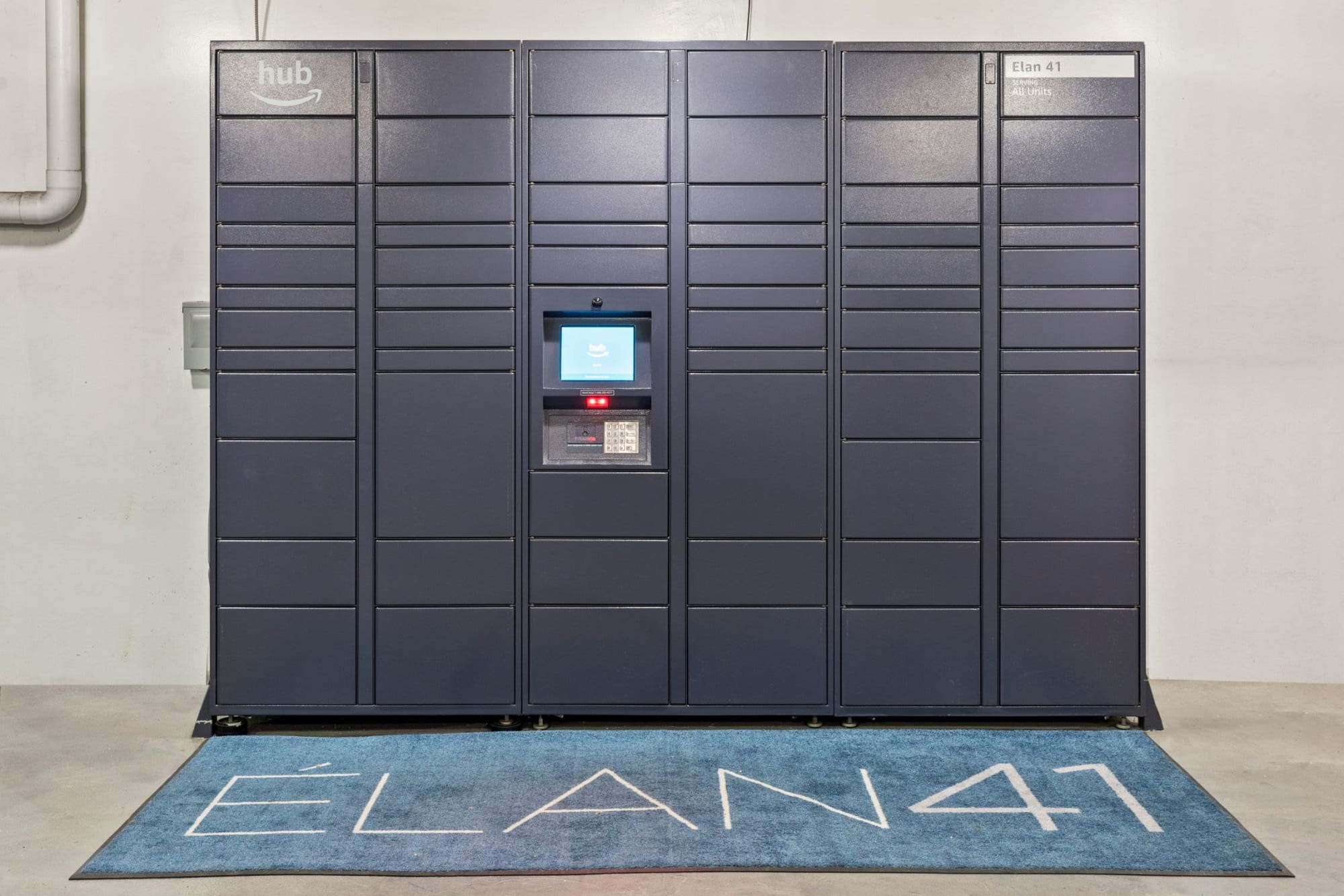 The convenient, 24-hour package lockers at Elan 41 Apartments in Seattle, Washington