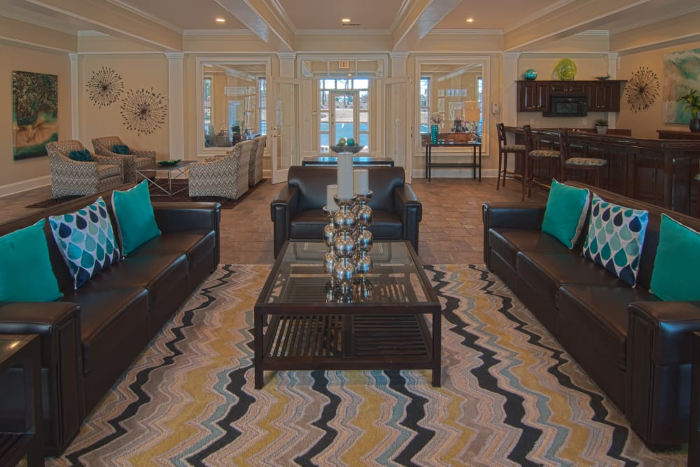 Resident clubhouse lounge at Amber Chase Apartment Homes in McDonough, Georgia