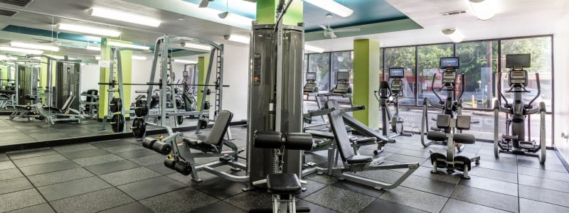 Fitness center for residents at Regents West at 24th in Austin, Texas