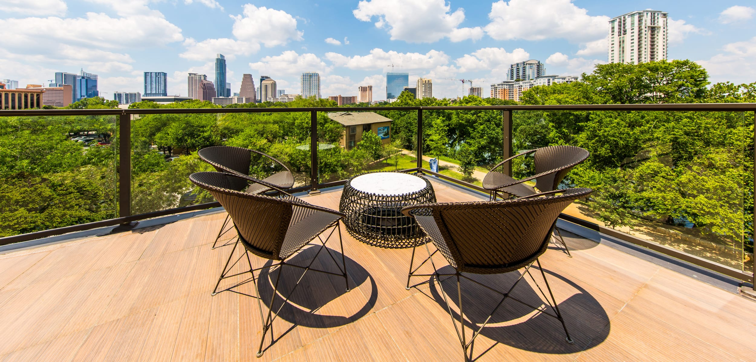 Outdoor patio area at Water Marq in Austin, Texas