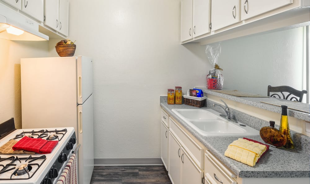Nice clean kitchen in our Tarzana, CA apartments