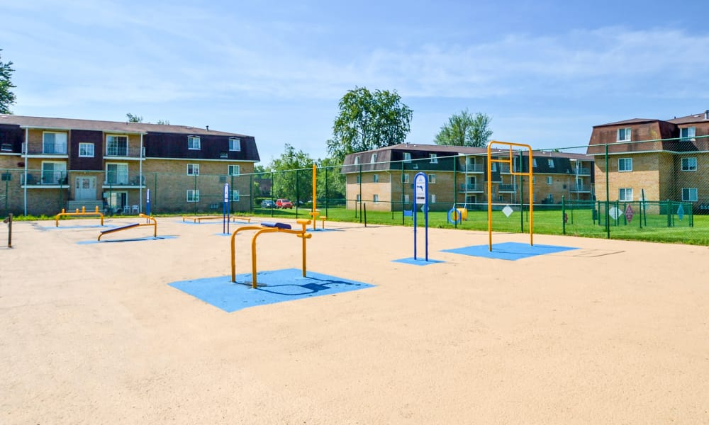 Outdoors health and fitness equipment at Main Street Apartment Homes in Lansdale, PA