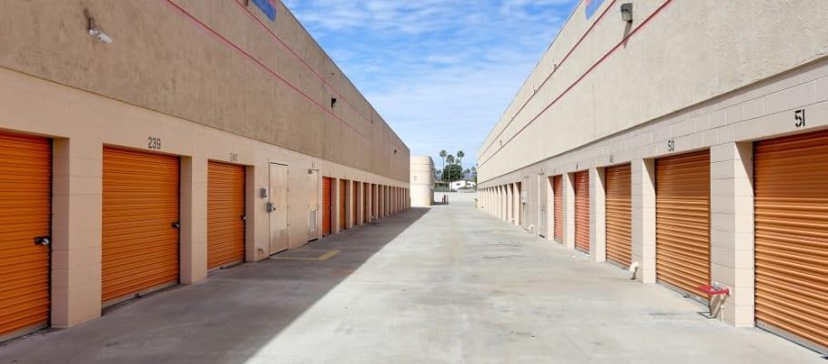 Convenient outside storage units at A-1 Self Storage in El Cajon, California