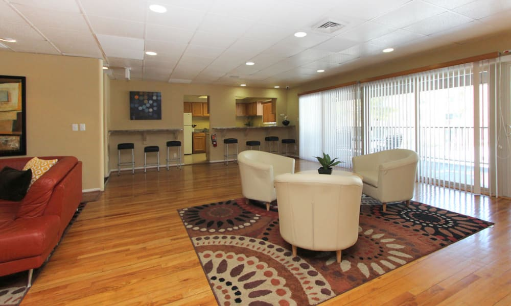 Well lit dining area at Lighthouse at Twin Lakes Apartment Homes